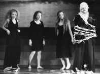 Pilobolus, a renowned dance group named for a fungus, performs at the Ford in 1986. Founded by Dartmouth College students in 1971, this group focuses on partnering and physical interaction among performers.
