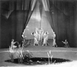 Prior to founding the Ford Theatres, Christine staged a production of The Light of Asia, a play recounting the life of Buddha and featuring modern dances choreographed by the legendary Ruth St. Denis, in the summer of 1918 at the Krotona Stadium in Beachwood Canyon.