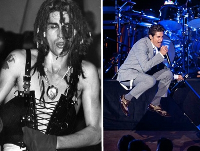 Jane's Addiction's lead singer Perry Farrell at the Ford in 1989 and 2011. (Courtesy of LAPL & Timothy Norris)