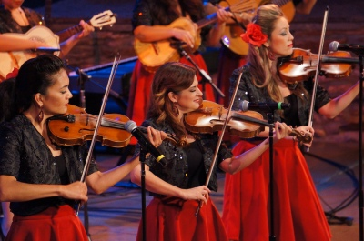 Susie Garcia and  Mariachi Las Colibrí performing at the Ford.
