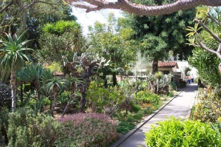 The garden grounds at San Gabriel Arcangel Mission (Courtesy of letsgoseeit.com)