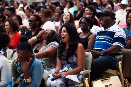 Audiences reactions to last year's Flypoet Summer Classic show. (Photo by Gennia Cui)