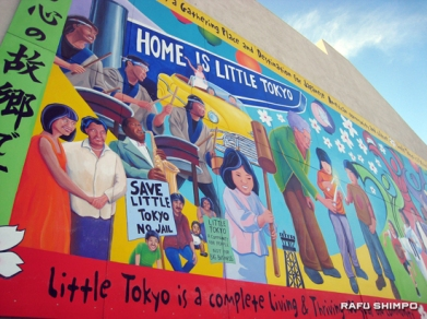 "TAIKOPROJECT Managing Director Bryan Yamami featured on the 16 by 40-foot ""Home is Little Tokyo"
