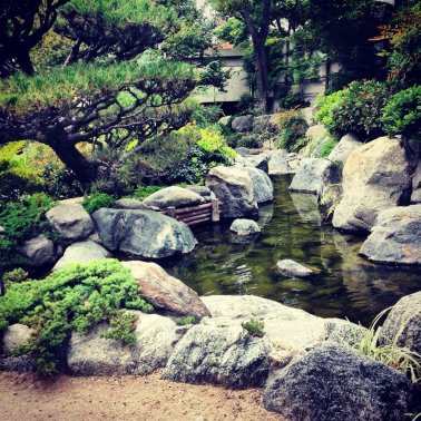 The James Irvine Japanese Garden at the Japanese American Cultural & Community Center (JACCC). (Photo courtesy of Yelp)