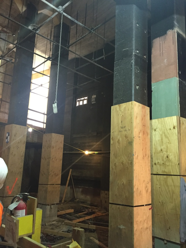 Say hello to the support beams for the new sound wall!
