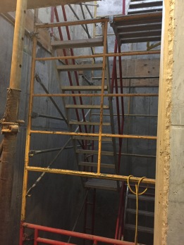This is what the inside of the elevator looks like now...