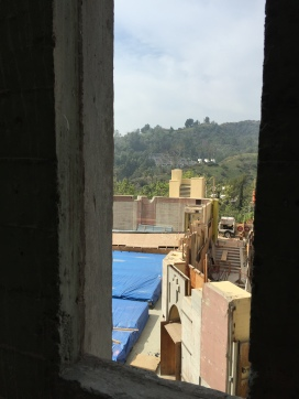 """A view from the iconic Ford towers... """"A Rapunzel's-eye-view,"""" one might say!"""